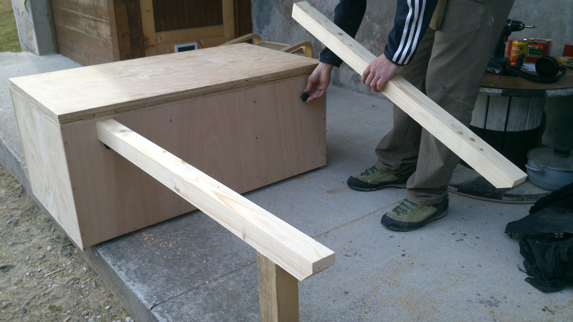nbc bois am nagement de v hicule amovible. Black Bedroom Furniture Sets. Home Design Ideas